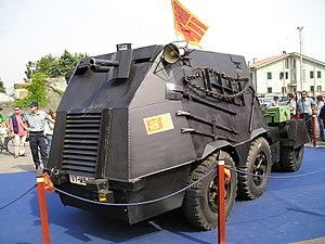 "Venetian nationalism - The Tanko, the improvised armoured vehicle with which the Serenissimi ""assaulted"" Piazza San Marco on 8 May 1997."