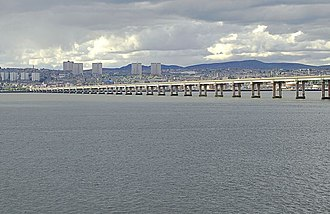 Tay Road Bridge - The Tay Road Bridge, viewed with Dundee in the background.