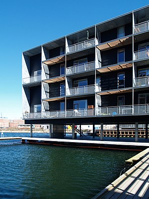 Teglholmen - Residential building at Teglholmen, designed by Tegnestuen Vandkunsten