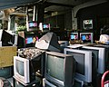 Television sets at an electric appliance shop on Jingwu Road, Taichung 20090822.jpg