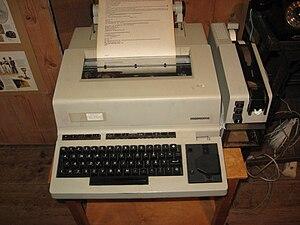 Telex machine Svenska: Telexmaskin
