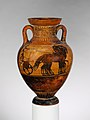 Terracotta Panathenaic prize amphora MET DP120001.jpg