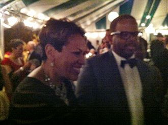 Terence Blanchard - Composer Terence Blanchard and his wife, Robin Burgess, at the world premiere of his opera Champion on 15 June 2013.