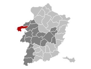 Tessenderlo - Image: Tessenderlo Limburg Belgium Map