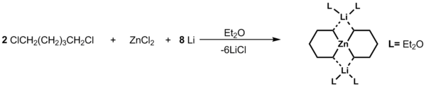 Spirocyclic tetraorganozincate synthesis