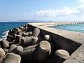 Tetrapods protecting a marina on Crete.jpg