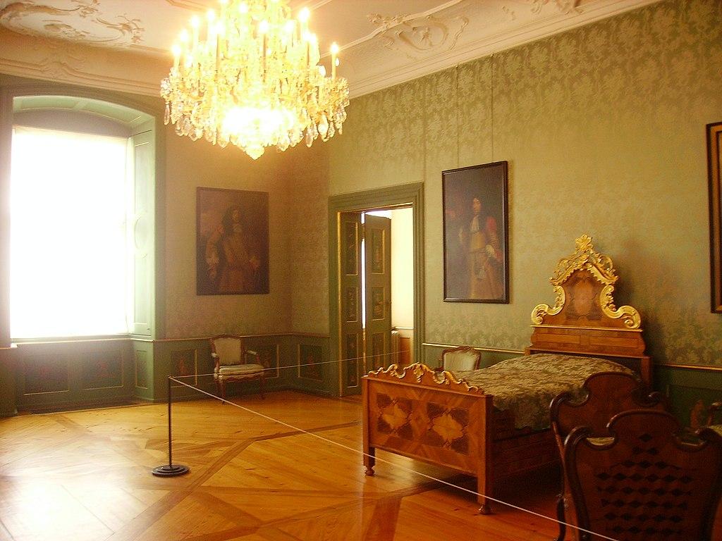 file tettnang neues schloss innen gr nes wohnzimmer 1 jpg wikimedia commons. Black Bedroom Furniture Sets. Home Design Ideas