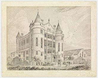 Teviot Row House - Drawing by architect Sydney Mitchell c. 1888