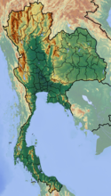 Map showing the location of Tham Luang Nang Non
