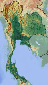 Map showing the location of Khao Sok National Park