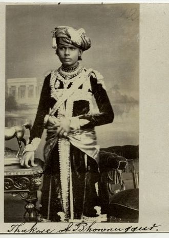 Bhavnagar State - A Thakur of Bhavnagar in the 1870s