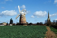 Thaxted Windmill and Church - geograph.org.uk - 158193.jpg