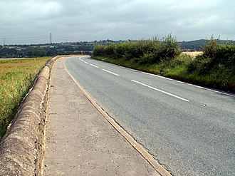 A635 road - Between Cawthorne and Barugh Green