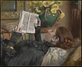 The Artist's Wife (Périe, 1849–1887) Reading MET DP275102.jpg
