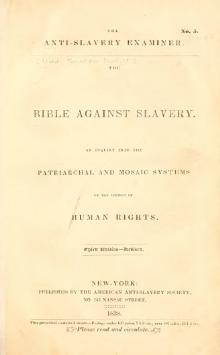 The Bible Against Slavery (Weld, 1838).djvu