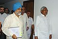 The Chief Minister of Bihar, Shri Nitish Kumar meeting the Deputy Chairman Planning Commission Shri Montek Singh Ahluwalia to finalize Annual Plan 2010-11 of the State, in New Delhi on May 17, 2010.jpg