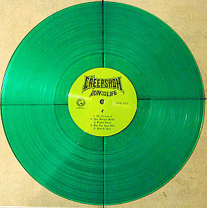 Run for Your Life (The Creepshow album) - Run For Your Life translucent green vinyl LP
