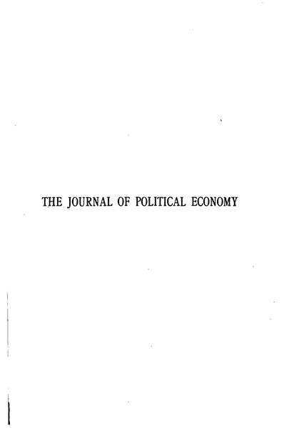 File:The Journal of Political Economy Volume 25.djvu