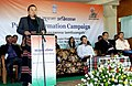The MLA, Lunglei West Constituency, Shri Chalrosanga addressing the gathering at the Public Information Campaign, at Mualthuam North in Lunglei District of Mizoram on November 26, 2014.jpg