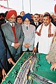 The Minister of State for Shipping, Road Transport and Highways, Shri K.H. Muniyappa is being shown the model of the flyover to be constructed at Phagwara Junction on Ludhiana-Jalandhar section of NH-I on North-South Corridor.jpg