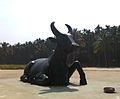 The Nandi sculpture at the Isha Yoga Center.jpg