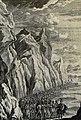 The Phillip Medhurst Picture Torah 373. The Israelites passing the Red Sea. Exodus cap 14 v 21. Tyroff.jpg