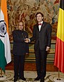 The President, Shri Pranab Mukherjee meeting the Prime Minister of Belgium, Mr. Elio Di Rupo, at Egmont Palace, Brussels in Belgium on October 03, 2013.jpg