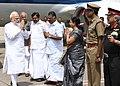 The Prime Minister, Shri Narendra Modi arrives in Chennai to pay homage to Kalaignar Karunanidhi, on August 08, 2018 1.JPG