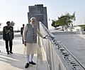 """The Prime Minister, Shri Narendra Modi paid tributes to brave soldiers of UAE who made ultimate sacrifice in the service of UAE at Wahat Al Karama """"Oasis of Dignity"""", in Abu Dhabi, United Arab Emirates on February 11, 2018 (6).jpg"""