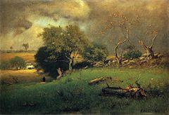 amazoncom george inness a winter sky 1866 hand