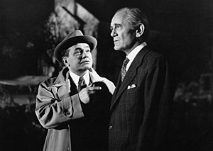 Philip Merivale - Edward G. Robinson and Philip Merivale in The Stranger (1946).