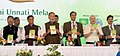 "The Union Minister for Agriculture and Farmers Welfare, Shri Radha Mohan Singh releasing the publication at the inauguration of the ""Krishi Unnati Mela, 2017"", in New Delhi.jpg"