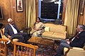 The Union Minister for Defence, Smt. Nirmala Sitharaman meeting the Governor of Jammu and Kashmir, Shri N.N. Vohra, in Srinagar on September 29, 2017. The Chief of Army Staff, General Bipin Rawat is also seen.jpg