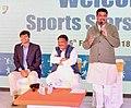 The Union Minister for Petroleum & Natural Gas and Skill Development & Entrepreneurship, Shri Dharmendra Pradhan addressing the participants of the Khelo India School Games 2018, in New Delhi.jpg