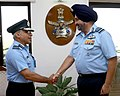 The Vice Chief of Air Staff, Air Marshal Anil Khosla calling on the Chief of the Air Staff, Air Chief Marshal B.S. Dhanoa, in New Delhi on October 01, 2018.jpg