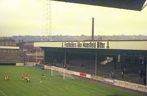 Millmoor - Away terrace in 1976