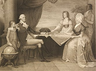 The Washington Family - The British Museum, London (2011) 1798 stipple print of The Washington Family by Edward Savage