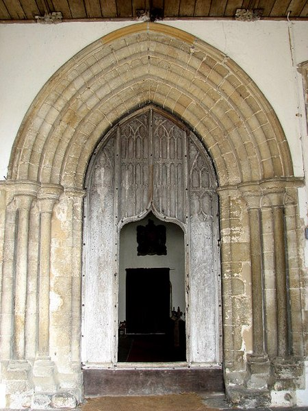 File:The church of All Saints - C15 door with wicket gate - geograph.org.uk - 833336.jpg