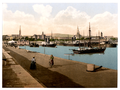 The harbour in Kingstown, Co. Dublin, Ireland, in about 1895 - Option 1.png