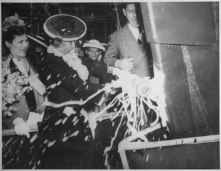 File:The launching party for the SS Harriet Tubman, 06-03-1944 - NARA - 535828.jpg