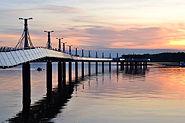 The pier in Płock at Vistula River, Poland