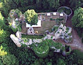 The ruin of Chateau Morimont seen from above.jpg