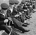 They Learn To Be Sailors- Sea Cadet Training on the Training Ship HMS Undine, Bowness-on-windermere, England, UK, 1943 D16280.jpg
