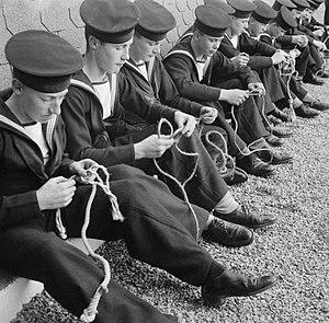 Sea Cadets (United Kingdom) - Sea Cadets training on HMS Undine, 1943