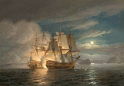 Thomas luny The French 74 Hercule surrendering to H.M.S. Mars off Brest.jpg
