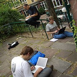Three developers at Wikimania (square).jpg
