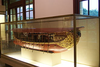 Trịnh lords - The model of  naval battle ship during Trịnh's era in XVII.