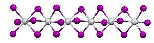 Titanium(III) iodide - Image: Ti I3side onview