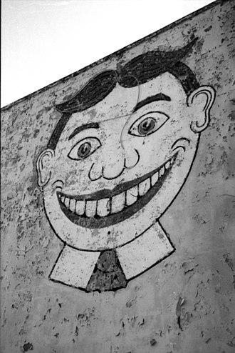 Palace Amusements - Tillie mural in 2002