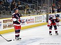 Tim Kennedy and Wade Redden - Hartford Wolf Pack 2.jpg
